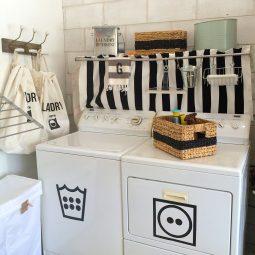 Glam Garage Laundry Room
