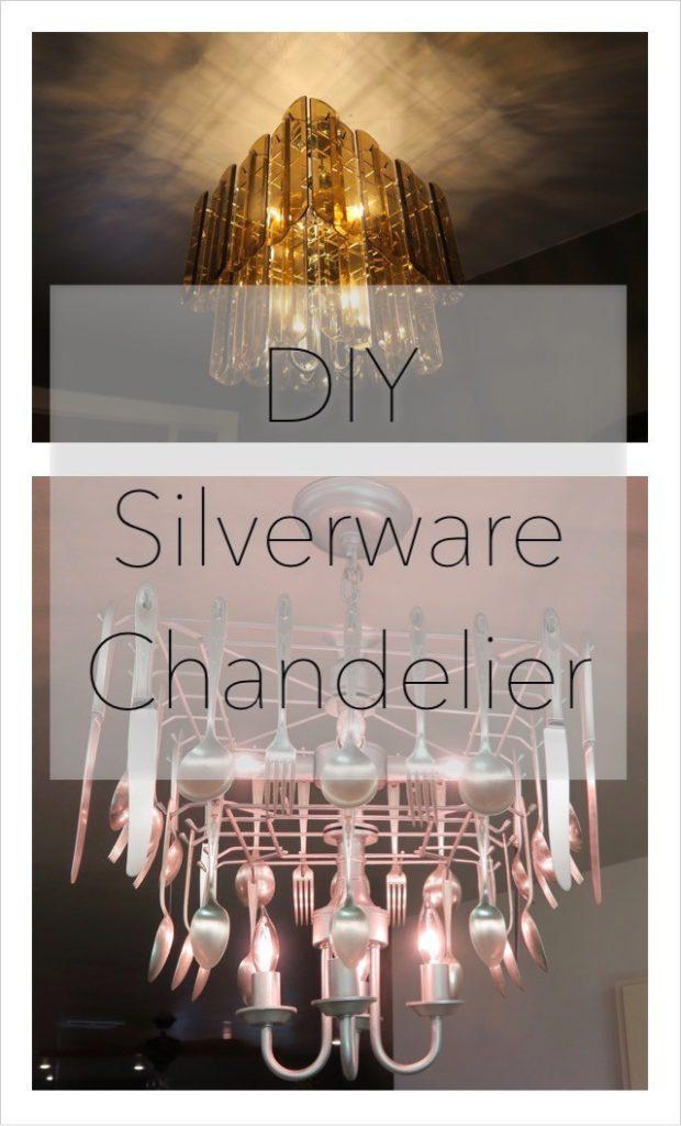 DIY Silverware Chandelier