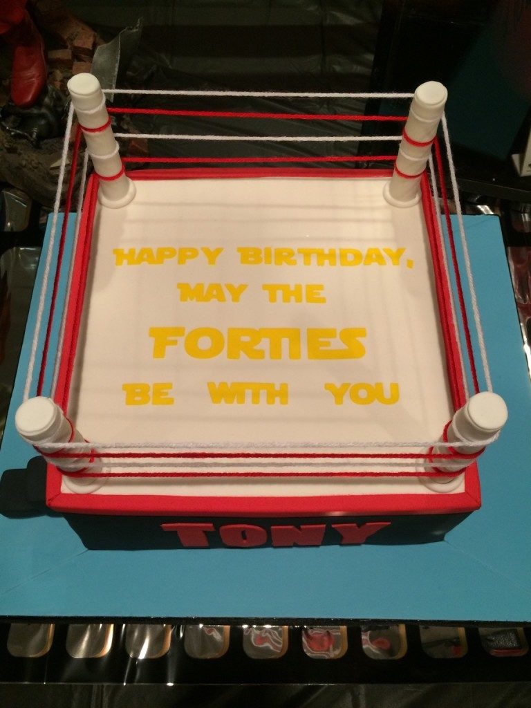 May The Forties Be With You Cake