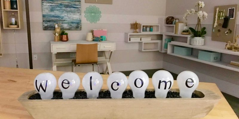 Lightbulb Welcome Sign Upcycle