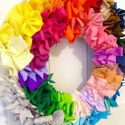 Hair Bow Wreath DIY