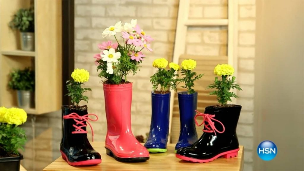 Rain Boot Planter DIY A Host of Things