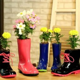 Rain Boot Planter DIY