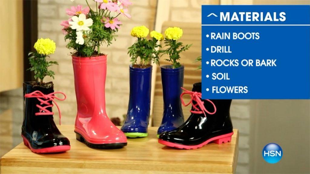 Rain Boot Planter DIY A Host of Things