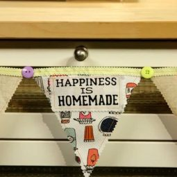 Tea Towel Banner DIY