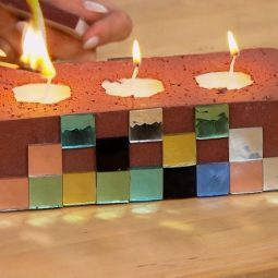 Cinderblock Candle DIY