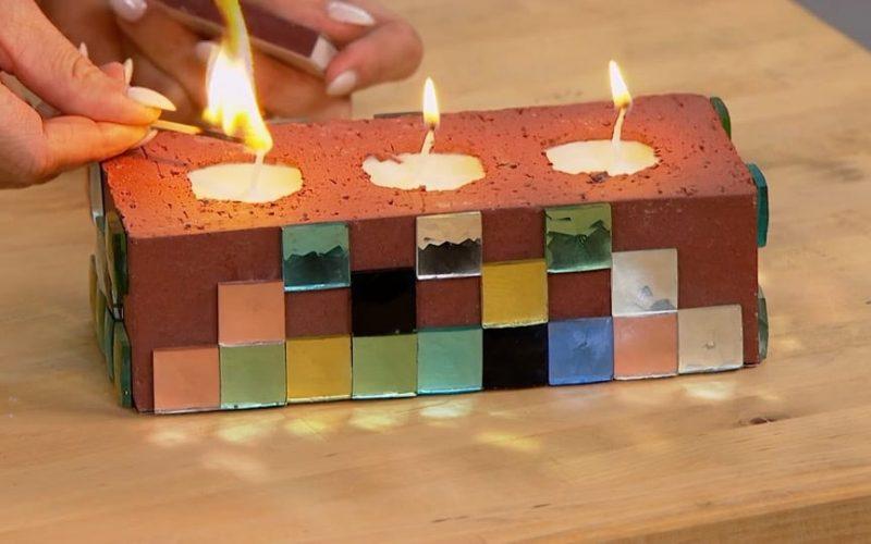Cinderblock Candle DIY