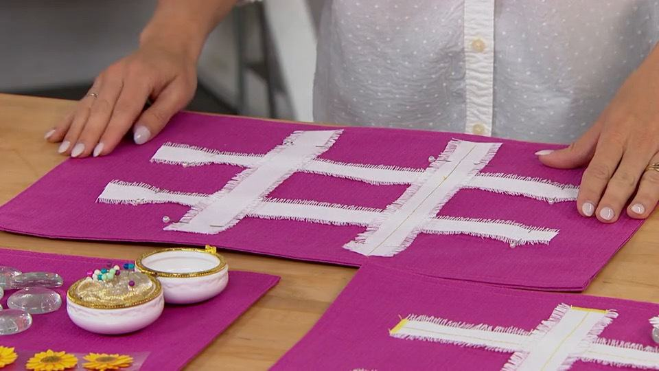 Place Mat Tic Tac Toe DIY A Host of Things