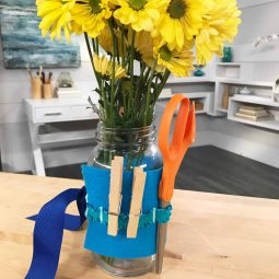Mason Jar Craft Tool Vase