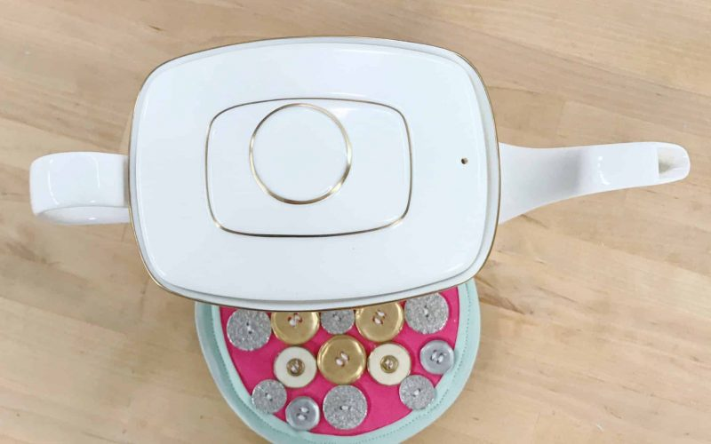 Glam Button Hot Pad DIY