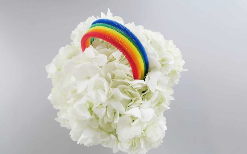 Rainbow Centerpiece DIY