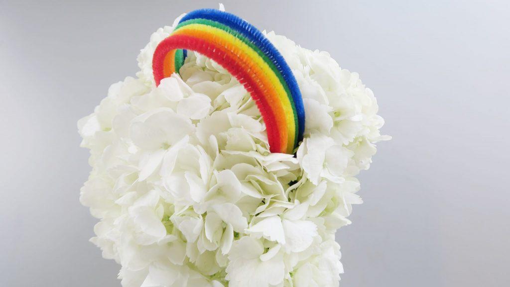 A Host of Things Rainbow Flower DIY