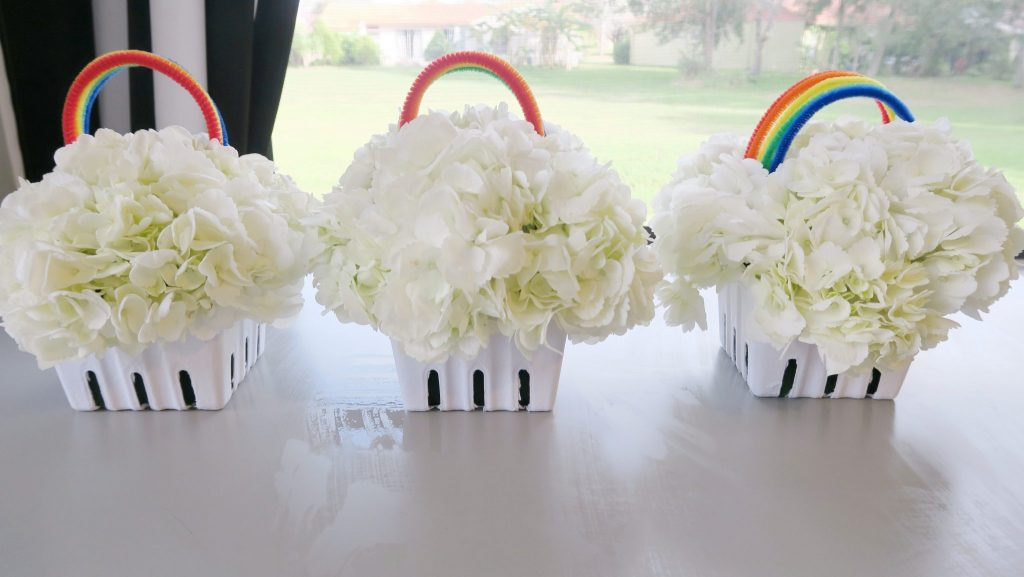 A Host of Things Rainbow Flower DIY